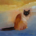 Cat In Surreal Landscape by Suzanne Cerny