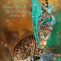 Cat In The Leopard Trim Santa Hat by Carol Cavalaris
