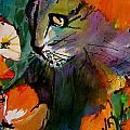 Cat In The Poppies by Jane Ferguson