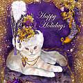 Cat In Victorian Santa Hat by Carol Cavalaris
