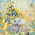 Cat In Yellow Easter Hat by Carol Cavalaris