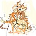 Cat Little Tiger Kitty by Go Van Kampen
