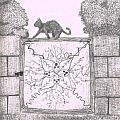 Cat On A Gate by Nicole DePreker