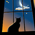 Cat On The Window by Aleksey Tugolukov
