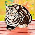 Cat Relaxing by Art by Danielle
