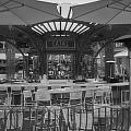 Catal Outdoor Cafe Downtown Disneyland Bw by Thomas Woolworth