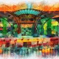 Catal Outdoor Cafe Downtown Disneyland Photo Art 01 by Thomas Woolworth