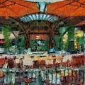 Catal Outdoor Cafe Downtown Disneyland Photo Art 03 by Thomas Woolworth