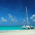 Catamaran In Caribbean by Robyn Saunders