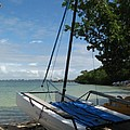 Catamaran On The Beach by Christiane Schulze Art And Photography