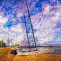 Catamarans At The Lake by Debra and Dave Vanderlaan