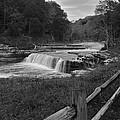 Cataract Falls Indiana Black N White by Randall Branham
