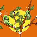 Caterpillars In The Orange Tree by Natalie Terrill