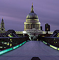 Cathedral Lit Up At Night, St. Pauls by Panoramic Images