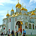 Cathedral Of The Annunciation Inside Kremlin Walls In Moscow-russia by Ruth Hager