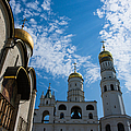 Cathedral Of The Dormition And Ivan The Great Belfry Of Moscow Kremlin by Alexander Senin