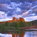 Cathedral Rock And Oak Creek At Red by Tim Fitzharris
