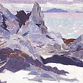 Cathedral Rock  Iona by Francis Campbell Boileau Cadell