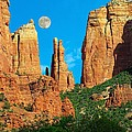 Cathedral Rock Moon by Steve  Ondrus