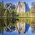 Cathedral Rock Panorama Reflection by Jim Dollar