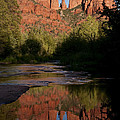 Cathedral Rock Reflection 4 by Lee Kirchhevel