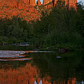 Cathedral Rock Reflection 5 by Lee Kirchhevel