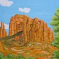 Cathedral Rock Sedona Az Right by Carol Sabo