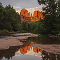 Cathedral Rock Sunset Reflection 4 by Lee Kirchhevel
