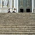 Cathedral Steps Girona Spain by Christopher Rees
