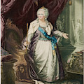 Catherine The Great  Empress Of Russia by Mary Evans Picture Library