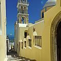 Catholic Cathedral Santorini by Gary Eason