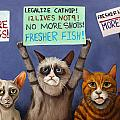 Cats On Strike Edit 2 by Leah Saulnier The Painting Maniac
