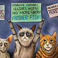 Cats On Strike Edit 3 by Leah Saulnier The Painting Maniac