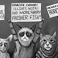 Cats On Strike Edit 4 by Leah Saulnier The Painting Maniac