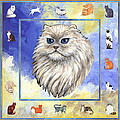 Cats Purrfection Four - Persian by Linda Mears
