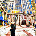 Caught In The Geometry Of Boylston Street by Mark E Tisdale