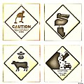 Caution Road Signs by Helge