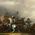 Cavalry Attacked By Infantry by Jacob Weier