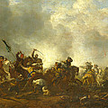 Cavalry Attacking Infantry by Philips Wouwerman
