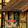 Caveau St Pierre Sign In Colmar France by Greg Matchick