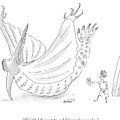 Caveman And Woman Begin To Eat A Pterodactyl by Michael Maslin