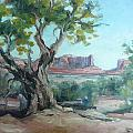 Cedar At Monument Valley by Lynn T Bright