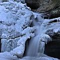 Cedar Falls In Winter At Hocking Hills by Dan Sproul