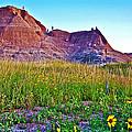 Cedar Pass At Dusk In Badlands National Park-south Dakota by Ruth Hager