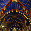 Ceiling Of The Sainte-chapelle  Paris by RicardMN Photography