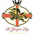 Celebrate St. George Day Proud To Be English Retro Poster by Aloysius Patrimonio