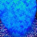 Celestial Blue Heart by Candy Frangella
