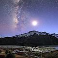 Celestial Sky With Milky Way Galaxy by Jeff Dai