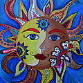 Celestial Sun And Moon by Pristine Cartera Turkus