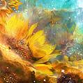 Celestial Sunflowers by Carol Cavalaris